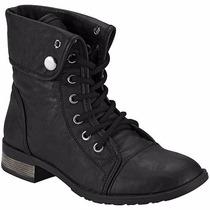 Zapatos T/botines Clasben 1622 Negro Dama Pv