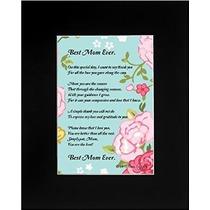 Regalo Del Día De Madre Para La Mamá Mejor Mamá Nunca Poema