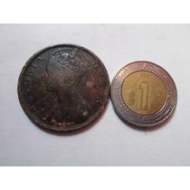 Moneda Antigua Centavo 1900 Hong Kong