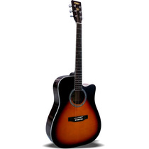 Guitarra Texana Acústica S101 Vs Con Funda Reforzada