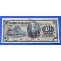 Billete $10 Banco Mercantil De Nuevo Leon 18xx Specimen