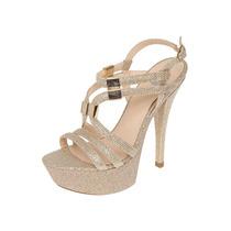 Lob Footwear - Zapatilla Oro De Tiras - Oro - 045-6223