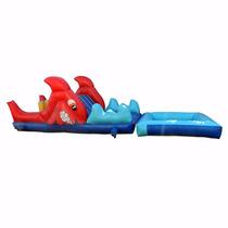Brincolin Inflable Escaladora Tiburón Acuatico