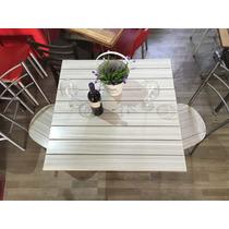 Mesa Con Sillas Vintage Para Restaurantes, Cafeterias