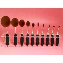 Set De Brochas Ovalo Para Maquillaje