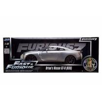 Jada Nissan Gtr R35 1/18 Silver Rapido Y Furioso F&f 6 Brian