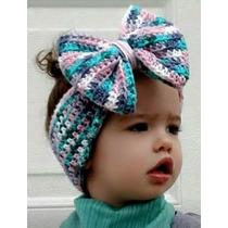 Diadema Para Niña Crochet De Importación!! Varios Colores!!