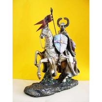 Caballero Medieval Con Caballo, Escultura Italiana