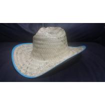 Sombrero Texano Paja Palma Fina Barato Fiesta Evento Adulto