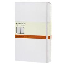 Libreta Grande Blanca Rayas Pasta Dura Moleskine Cuaderno