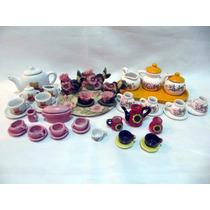 Lote De Juegos De Te De Ceramica Artesania 43 Pzas Miniatura