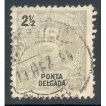 Punta Delgada Islas Azores Antigua Estampilla Portugal 1895