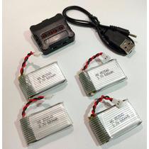 Cargador Y 4 Baterias De 650mah Para Syma X5c Envio Gratis