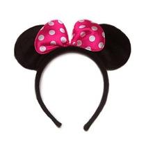 Pink Dots Pollka Minnie Mouse Diadema Oído