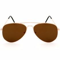 Lentes Gafas Hombre Mujer Aviador Sol Metal Plástico Bm
