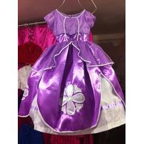 Espectacular Vestido Disfraz De Lujo Princesita Sofia Tiara