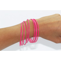 Pulsera Casual Conjunto Color Rosa Mexicano Pc209