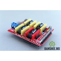 Cnc Shield V3.1 4 Ejes Arduino Gbrl Compatible Drv8825 A4988