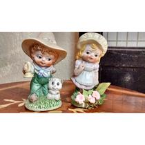 Niños Con Sombrero Porcelana Antigua De Japon
