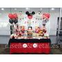 Mesa De Dulces Infantil Temática Mickey Minnie Mouse