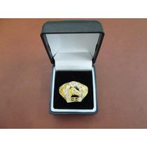 Anillo De Caballero Oro 10 Kilates Herradura Circonias. Vv4