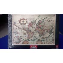 Rompecabezas 6000 Pzas Puzzle Educa Mapa Mundi Antiguo