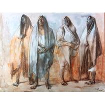 Francisco Zuñiga Litografia Grupo De Mujeres De Pie 1974 Mis