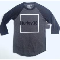 Playera Hurley Tres Cuartos Surf Skate