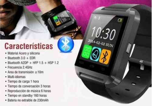 7ad0ff73835 10 Relojes Smartwatch U8 Bluetooth Smartphones Envio Gratis - $ 2490 ...