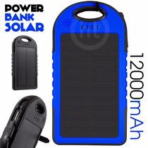 Power Bank Solar 12,000 Mah Bateria Portatil Usb Lampara