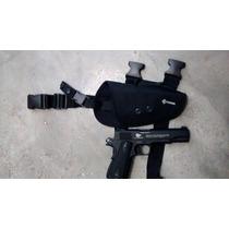 Piernera Funda Tactica Pistola Airsoft Crosman Elite Policia