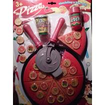 Juguetes Pizzas Niñas Juegos Set Pizzeria Trastes Accesorios