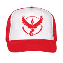 Gorra Tipo Trucker O Camionero Pokemon Go Valor Team