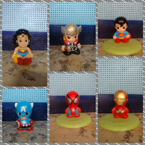 Figuras De Yeso Ceramico - Super Heroes Pintados