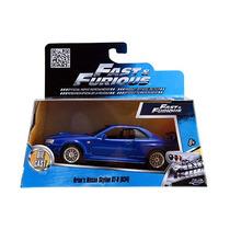 Fast And Furious Jada Nissan Skyline Gt R R34 2002 Azul 1/32