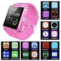 Reloj Smartwatch U8s Inteligente Bluetooth Táctil Rosa