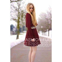 Suku 90882 Elegante Vestido Manga Larga Moda Asia $1029