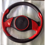 Volante Deportivo Túnix Rojo Con Negro, Diámetro De 33 Cm