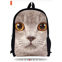 Mochila Backpack 3d Gde Escolar 40 X 30cm Varios Diseños E4f
