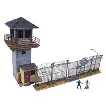 The Walking Dead Prison Tower & Gate Building Set Mcfarlane