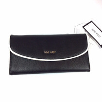 Cartera Nine West Negro Con Blanco 100 % Original