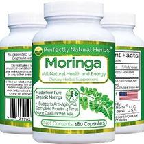 Hecho De Orgánica Moringa Powder 180 Cápsulas De 375 Mg Cada