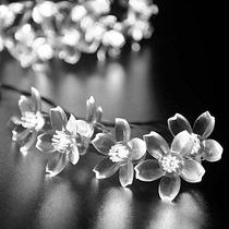 Luckled Flor Solar Luces De Cadena De 21 Pies 50 Led De Hada