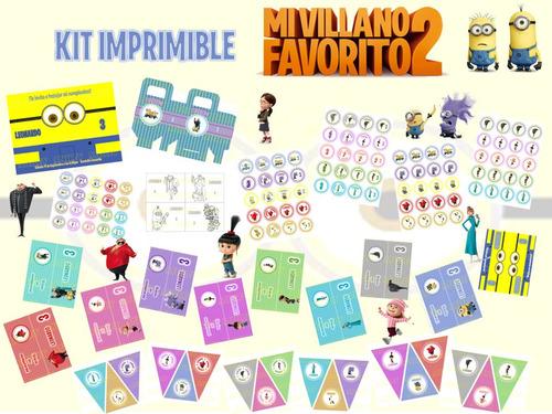 Kit Imprimible Mi Villano Favorito