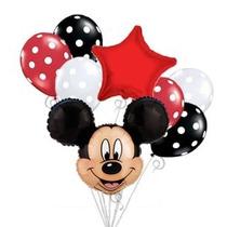 Cabeza De Globo De Mickey Mouse Bouquet Set Cumpleaños Baby