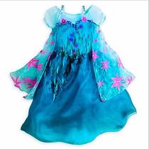 Vestido Frozen De Elsa Fever No Disney Pero Americano