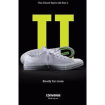 Tenis Choclo Converse Ct Ii Ox 154c Blanco Del 25 A 30