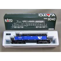 Locomotora Kato Sd40 Montana Rail Link Escala Ho