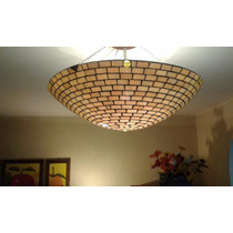 Lámpara De Vitral Vidrio Importado Decorativa Luz Calida