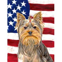 Bandera Americana Con Ee.uu. Yorkie / Yorkshire Terrier Band